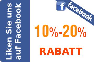 Liken Sie uns auf Facebook fur RABATT