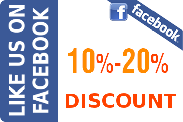 Like Us on facebook Discount